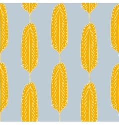 Seamless Pattern Retro Feathers vector image