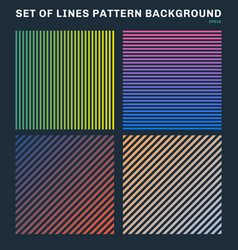 set colorful lines pattern background and vector image