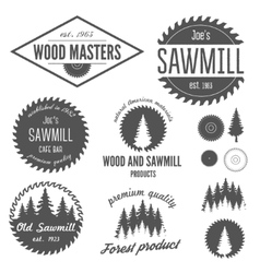 set logo labels badges and logotype elements vector image