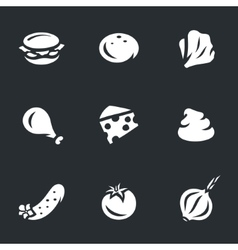 Set of Burger components vector