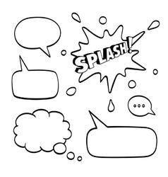 Set of speech comic bubbles vector