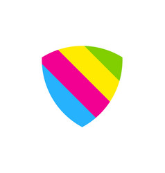shield paint logo icon design vector image