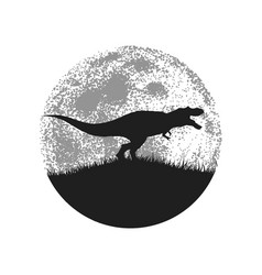 silhouette of the tyrannosaur vector image