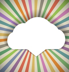 Speech cloud template vector image