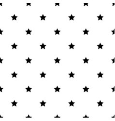 star shape black and white seamless pattern vector image
