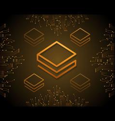 Stratis blockchain style background design vector