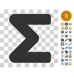 Sum icon with bonus vector
