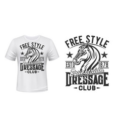 t-shirt print with horse stallion equestrian sport vector image