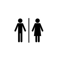 toilet sign icon element of travel icon for vector image