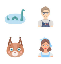 Travel animal and other web icon in cartoon style vector