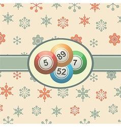 Vintage Christmas background with bingo balls vector