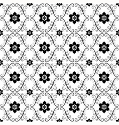 white black vintage seamless pattern vector image