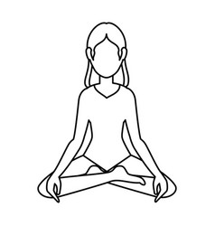 woman practicing yoga character vector image