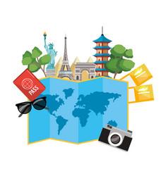 world landmarks icon vector image