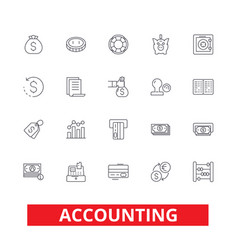 accounting business accountant finance vector image vector image