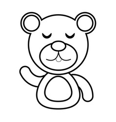 bear animal toy outline vector image