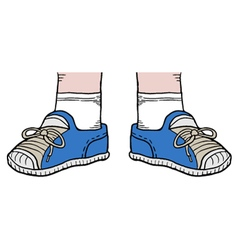 blue shoes vector image