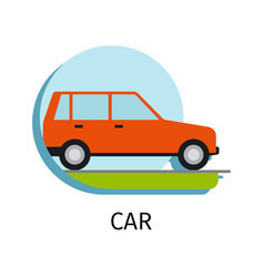 car transport in flat style vector image