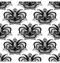 Persian paisleys seamless pattern vector image