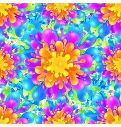 Rainbow vivid color paint splash seamless vector image vector image