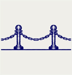 Seamless fence vector image vector image