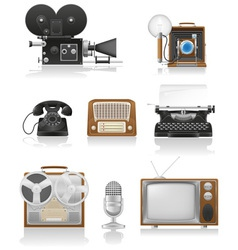 vintage and old art equipment 01 vector image vector image