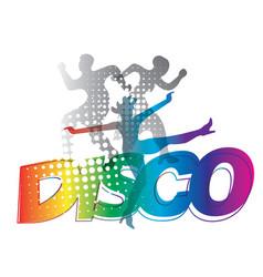 Disco dance silhouettes vector