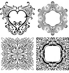 elegant design elements vector image vector image