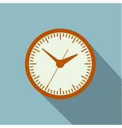 Image timer long shadow vector image
