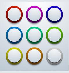 modern colorful circle icon set vector image vector image