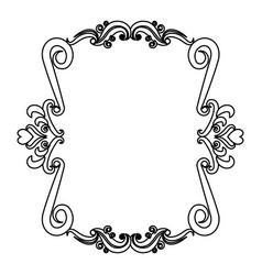 romantic decorative frame floral border cute image vector image vector image