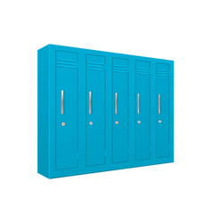School lockers light blue 5 piece section vector
