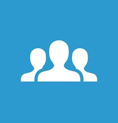 team icon white on the blue background vector image
