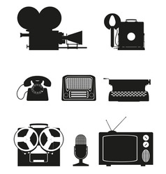 vintage and old art equipment 02 vector image vector image