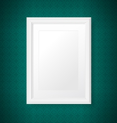 Antique white frame on the vintage wall vector image