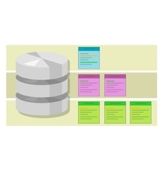 data table query database index symbol vector image vector image