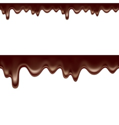 melted dripping chocolate seamless vector image vector image