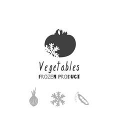 vegetables logo template vector image