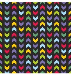 Aztec Chevron seamless dark colorful pattern vector image vector image