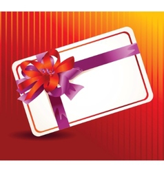 beautiful card with ribbons vector image