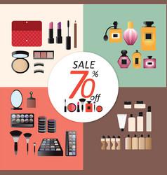 discount sale makeup design concept set vector image vector image