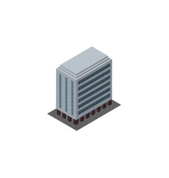 isolated building isometric office element vector image vector image