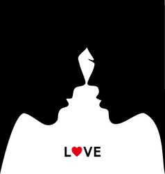 kissing couple in love vector image vector image