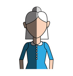 old woman with hairstyle and casual cloth vector image vector image
