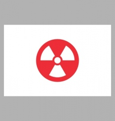 radiation sign on japan flag vector image vector image