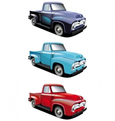 retro style pickup vector image vector image