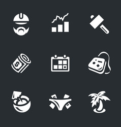 set of work and leisure icons vector image vector image
