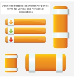 web elements banners and buttons set vector image vector image