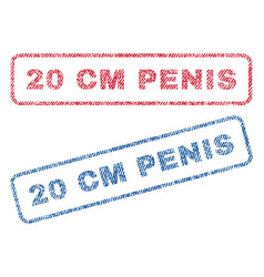 20 cm penis textile stamps vector image