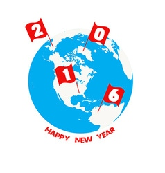2016 happy new year celebration in the world vector